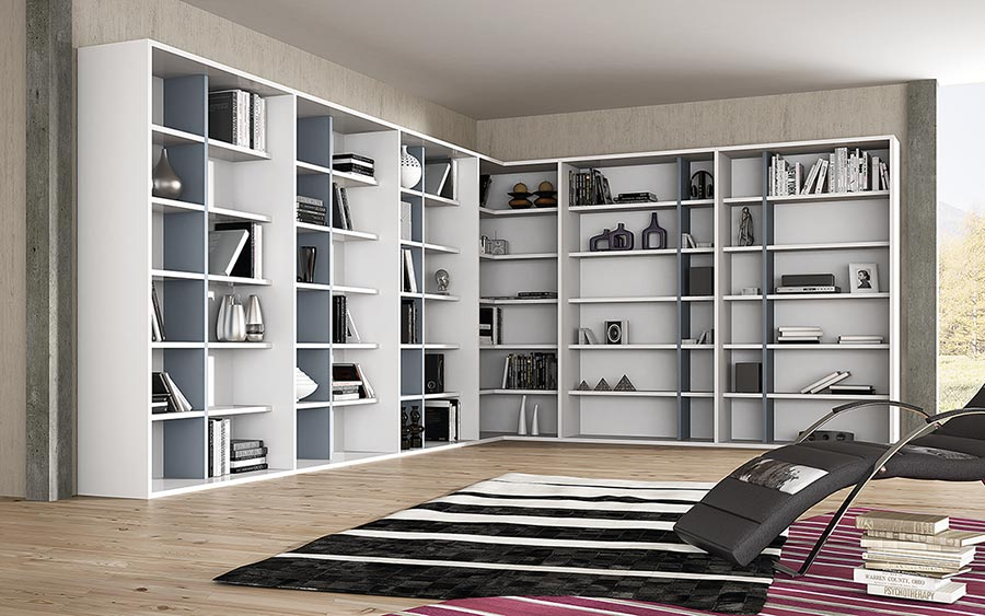 Missura estanter a librer a pared completa deslan - Estanterias diseno pared ...