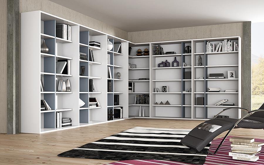 Missura estanter a librer a pared completa deslan - Estanterias para librerias ...