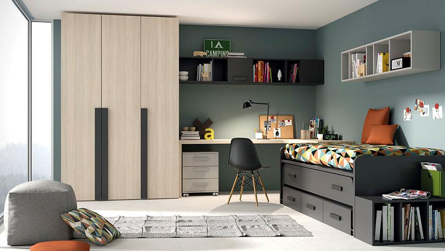 Jjp dormitorio juvenil cama nido deslan for Mobiliario de dormitorio