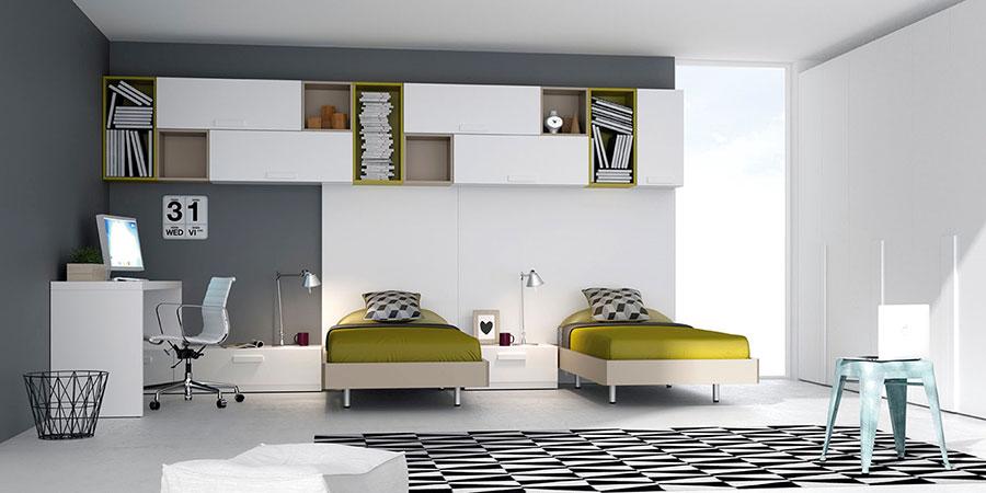 Jjp dormitorio juvenil camas escritorio deslan - Habitacion juvenil diseno ...